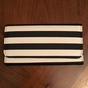 Striped slim wallet